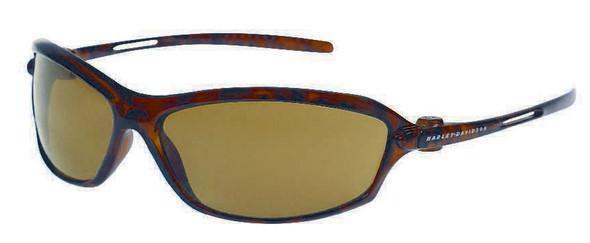 Harley-Davidson Mens Sun Kickstart Sunglasses Tortoise Brown/BRN Lens HDV001TO-1 - Wisconsin Harley-Davidson