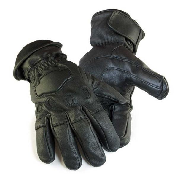 Northstar  Mens Deerskin Gauntlet Cycle Glove Lined 150 gram Thinsulate, 034B - Wisconsin Harley-Davidson