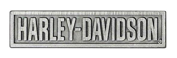 Harley-Davidson H-D Script Pin, 3D Die Cast, Antique Silver Finish P516204 - Wisconsin Harley-Davidson