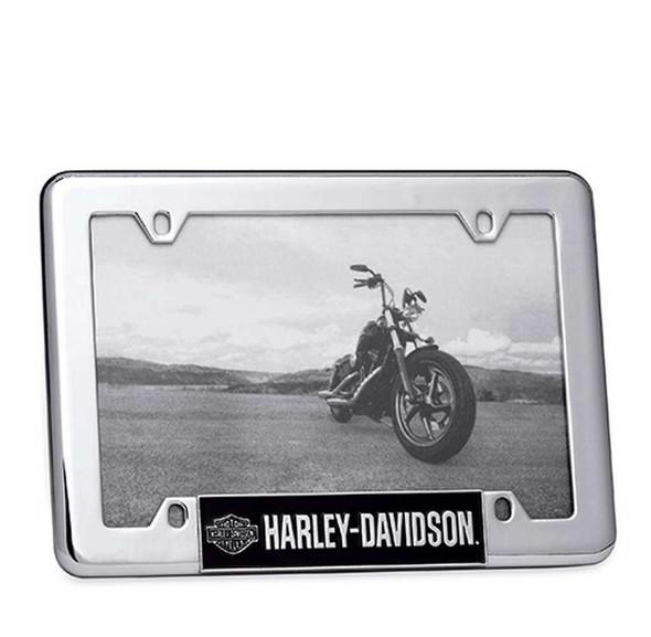 Harley-Davidson Bar & Shield Logo License Plate  4 x 6 Photo Frame. 96822-15V - Wisconsin Harley-Davidson