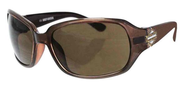 Harley-Davidson Women's Bling B&S Sunglasses, Brown Frames & Brown Lens - Wisconsin Harley-Davidson