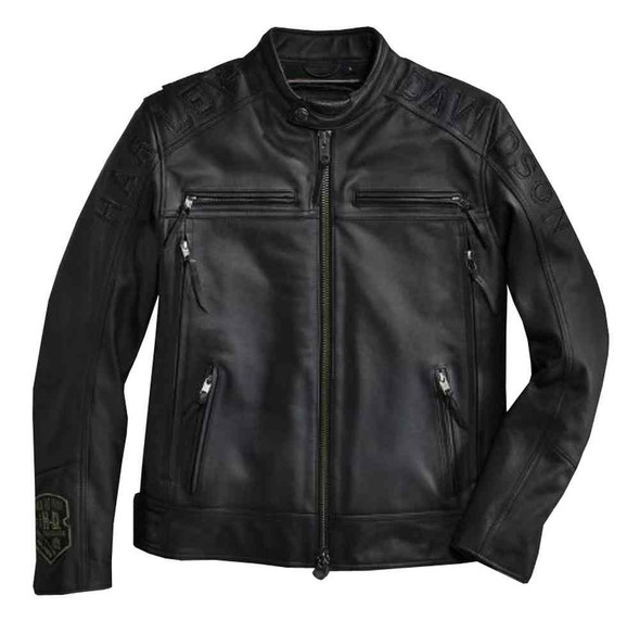 Harley-Davidson Men's Telescope Thrash Leather Jacket, Black 97096-16VM - Wisconsin Harley-Davidson