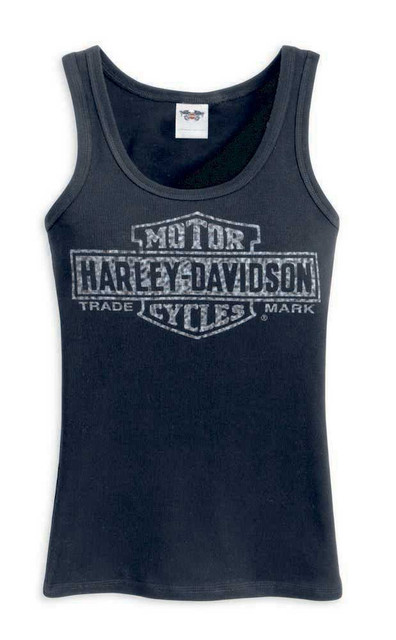 Harley-Davidson Women's Bar & Shield Trademark Logo Tank, Black 99102-12VW - Wisconsin Harley-Davidson
