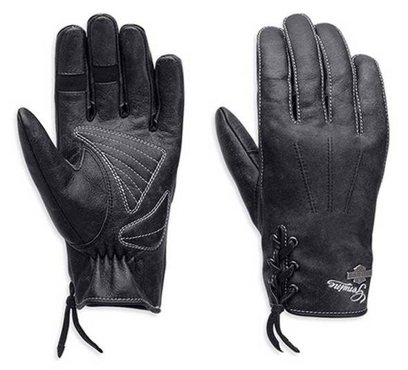 Harley-Davidson Women's Swingback Distress Full-Finger Leather Gloves 98343-15VW - Wisconsin Harley-Davidson