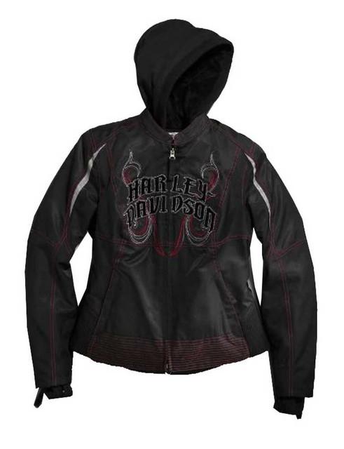 Harley-Davidson Women's Jacket, Waterproof 3IN1 Functional, Black 97042-15VW - Wisconsin Harley-Davidson