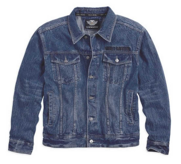 Harley-Davidson Men's Eagle Bar & Shield Denim Jacket 99006-14VM - Wisconsin Harley-Davidson