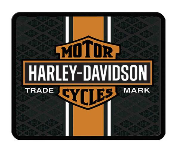 Harley-Davidson 14 x 17 Classic Orange Bar & Shield Utility Mat P961 - Wisconsin Harley-Davidson