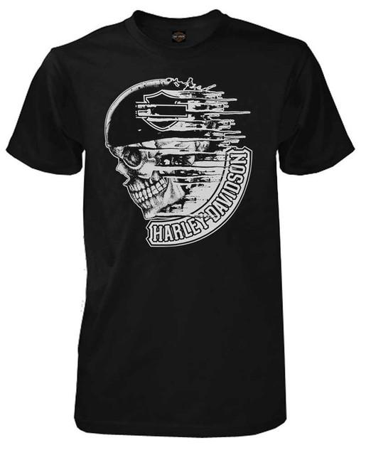Harley-Davidson Men's T-Shirt, Distress Speed Skull Short Sleeve, Black 30294028 - Wisconsin Harley-Davidson