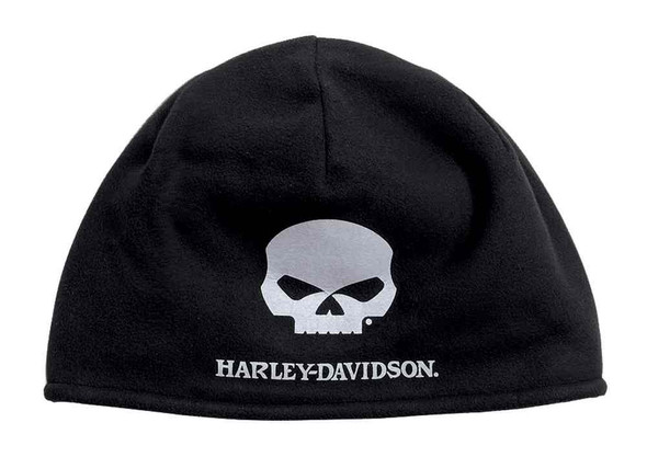 Harley-Davidson Men's Willie G Skull Cold Weather Fleece Hat, Black 99430-16VM - Wisconsin Harley-Davidson