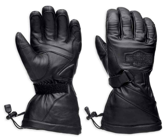 Harley-Davidson Men's Circuit Waterproof Gauntlet Leather Gloves 98276-14VM - Wisconsin Harley-Davidson