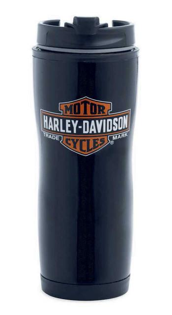 Harley-Davidson Trademark Bar & Shield Logo Black Travel Mug 16 oz. 99232-13V - Wisconsin Harley-Davidson