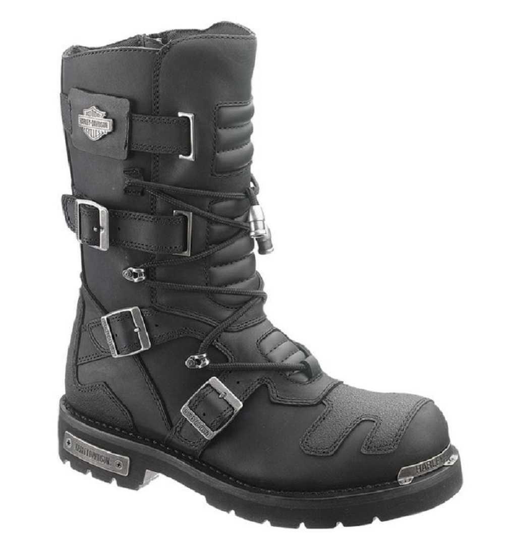 Harley-Davidson® Men's Axel 10-Inch Black Motorcycle Boots D96035 -  Wisconsin Harley-Davidson