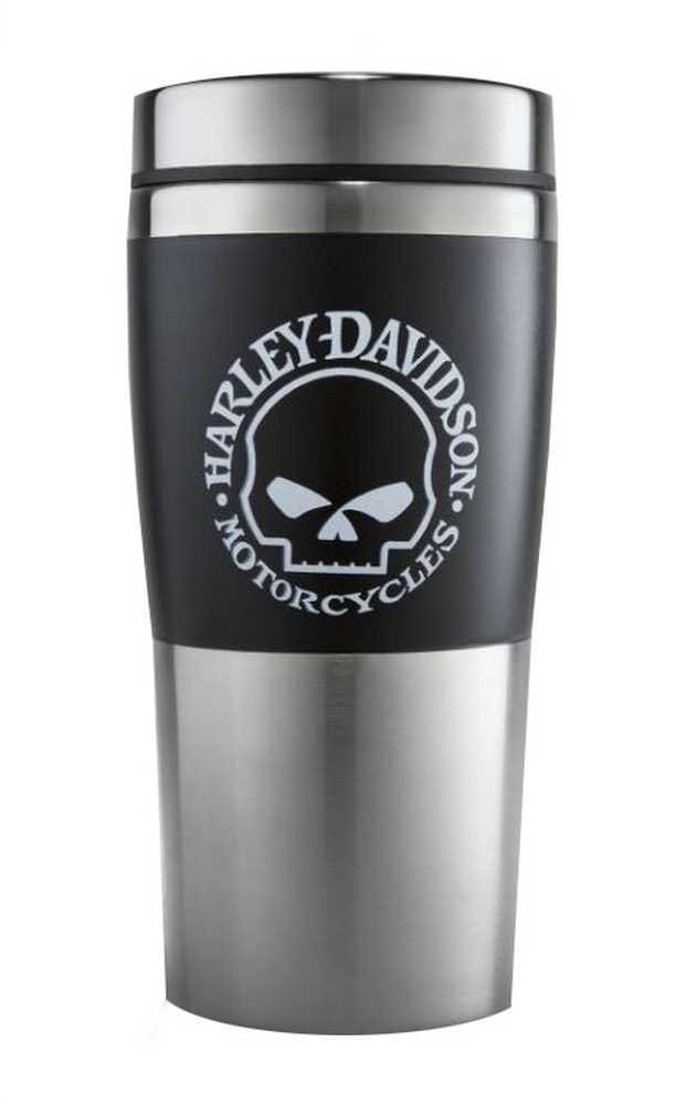 Harley-Davidson Core Willie G Skull Stainless Steel Travel Mug Black HDX-98618