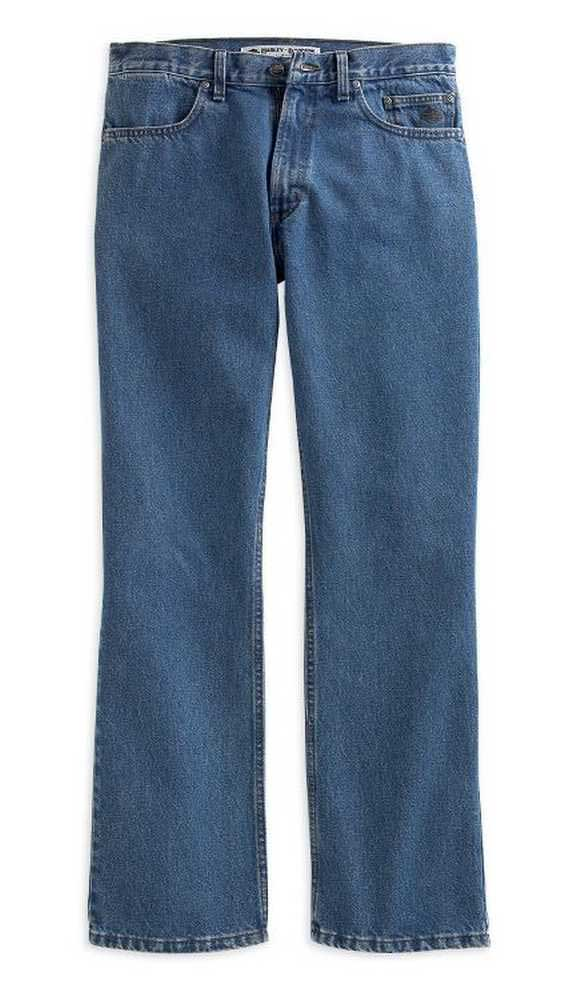 Harley-Davidson Men/'s Black or Blue Traditional or Relaxed Fit Denim Jeans