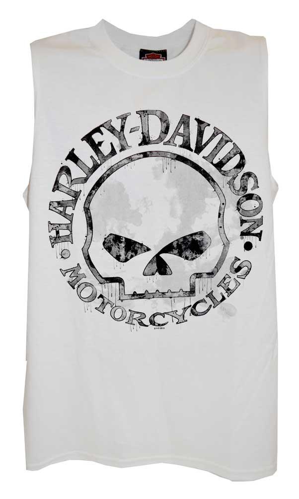 White Muscle T-Shirt 30296645 Harley-Davidson Men/'s Willie G Skull Tank Top