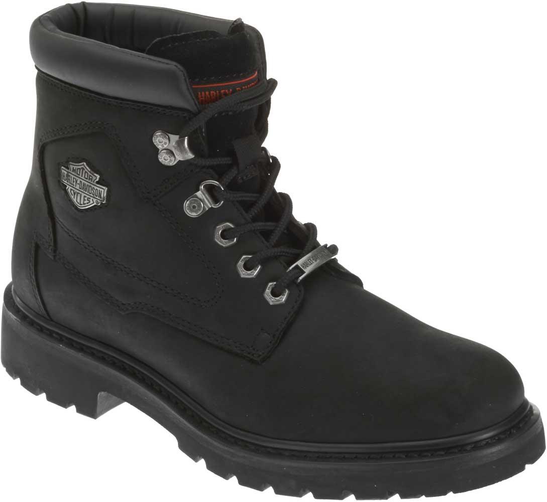 HARLEY-DAVIDSON FOOTWEAR Men/'s Badlands Black Leather Motorcycle Boots D91005