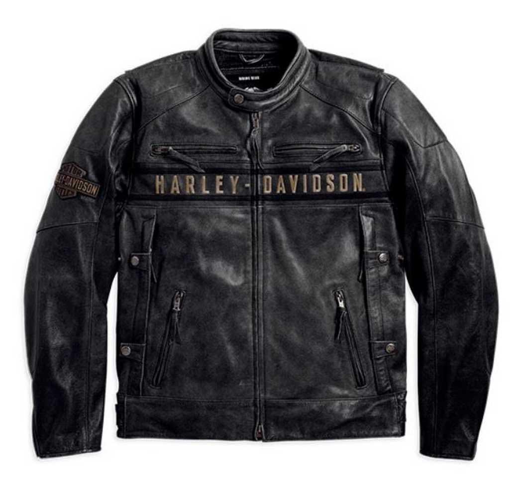 New Men/'s Passing Link Leather Vest Harley Davidson Biker Motorcycle Vest