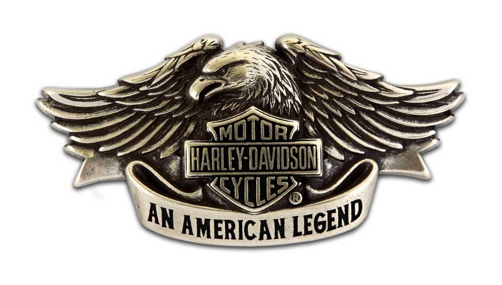 BELT BUCKLE HARLEY DAVIDSON MOTOR CYCLES WINGS OF AN EAGLE AUSSIE STOCK !