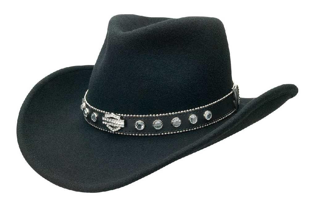 Harley-Davidson® Womens Cowboy Western Hat w/ Rhinestones HD-190 -  Wisconsin Harley-Davidson
