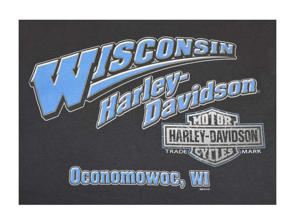 Harley-Davidson Mens The Last Rider Motorcycle Black Short Sleeve T-Shirt