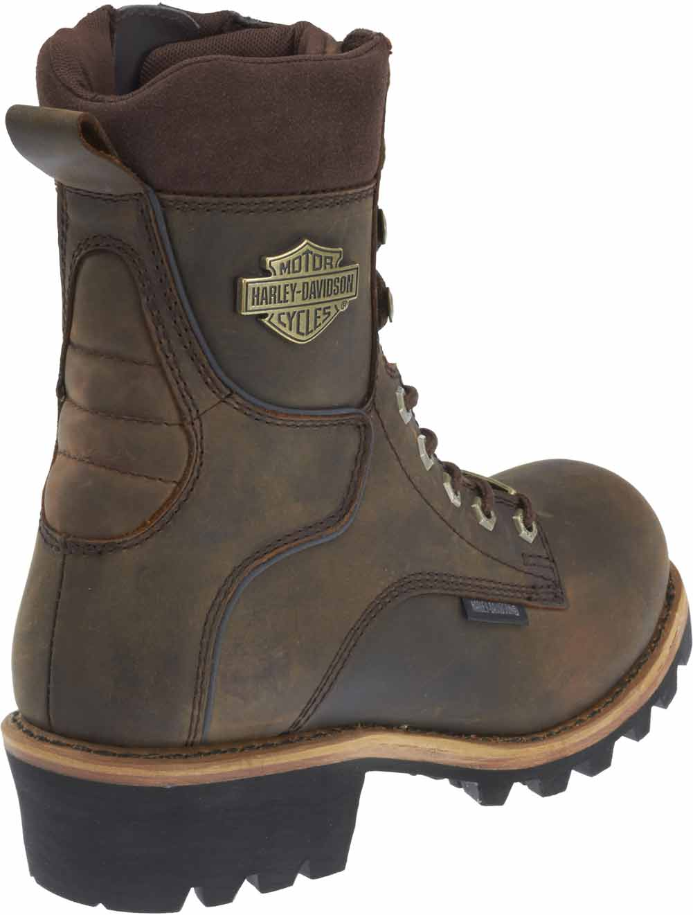 Harley-Davidson Men/'s Tyson 7.5-Inch Brown Logger Style Motorcycle Boots D96100