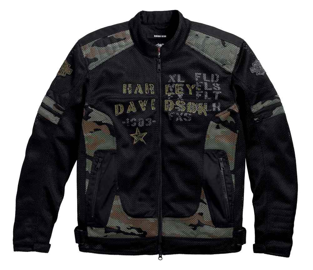 Men's Davidson® Riding Midville Mesh 97140 17VM JacketCamo Functional Harley jLR3A54