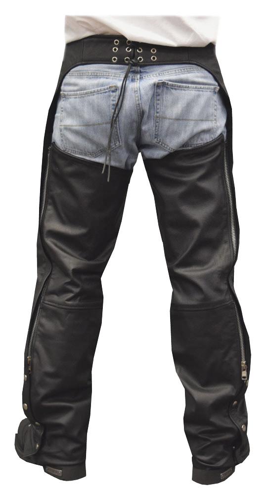 NEW Premium Leather Motorcycle Chaps