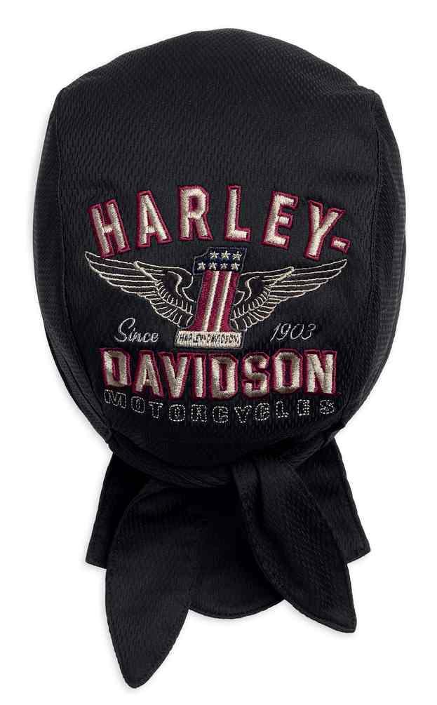 Harley Davidson Winged #1 No.1 Mütze Strickmütze Cap  Schwarz 99488-17VM