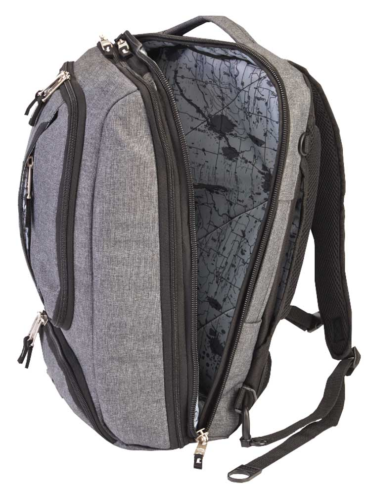 Gray 99120 Harley-Davidson Graphite Honeycomb Tech Backpack Water-Resistant
