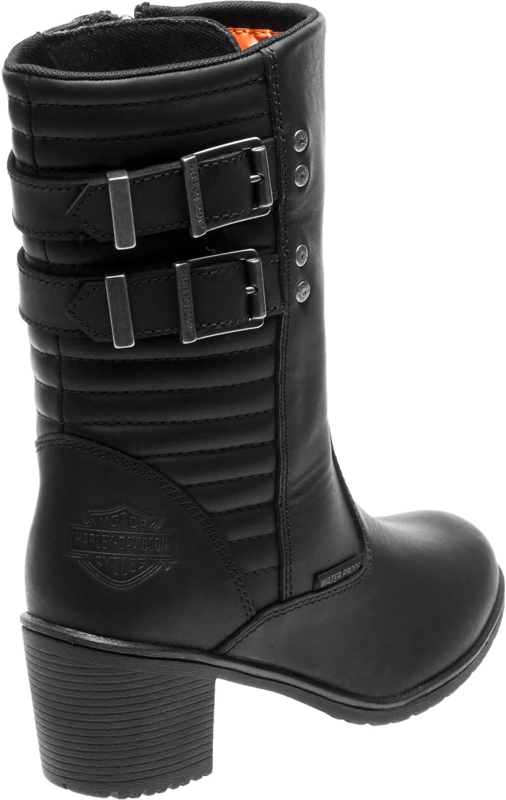 Harley Davidson® Women's Kirkley 8 Inch Waterproof Black Motorcycle Boots D87143