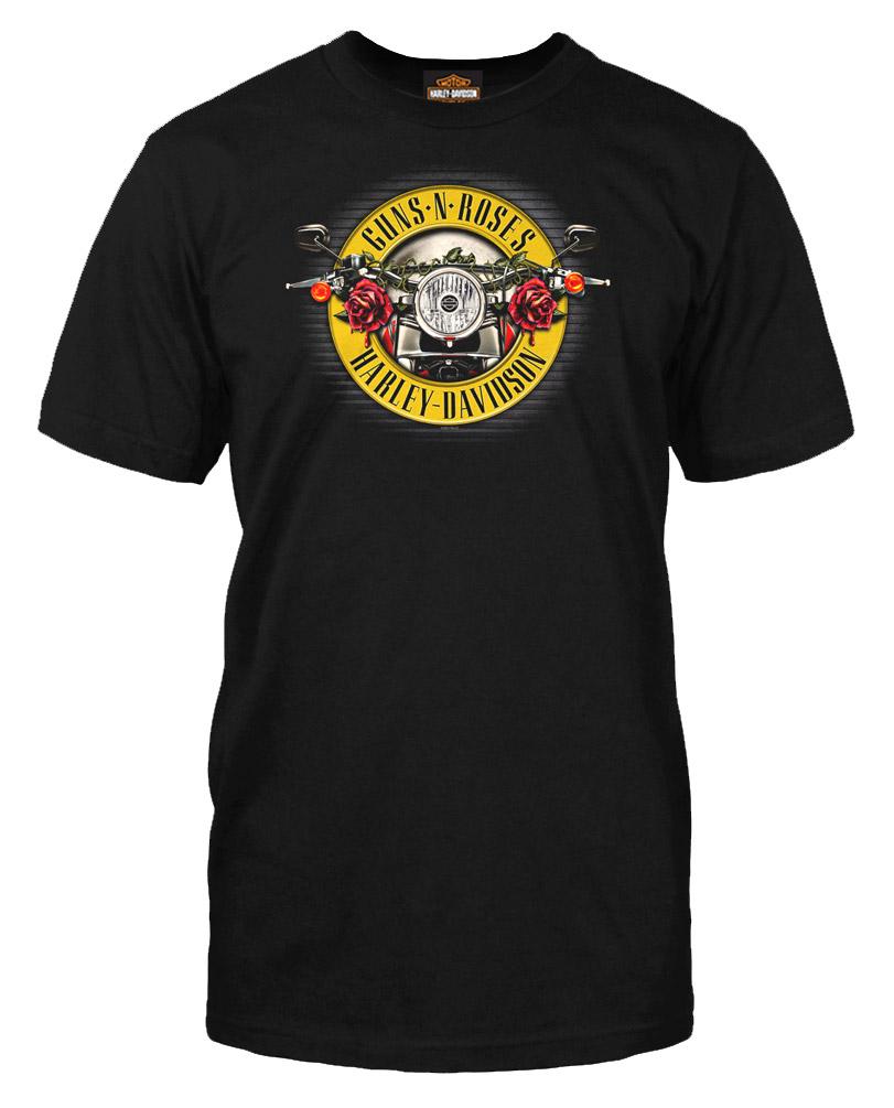 Harley-Davidson Men/'s Guns N/' Roses Cover Motorcycle Short Sleeve T-Shirt Black