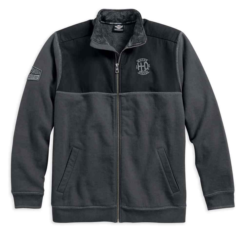 Harley Davidson Men/'s Full Zip Fleece Jacket