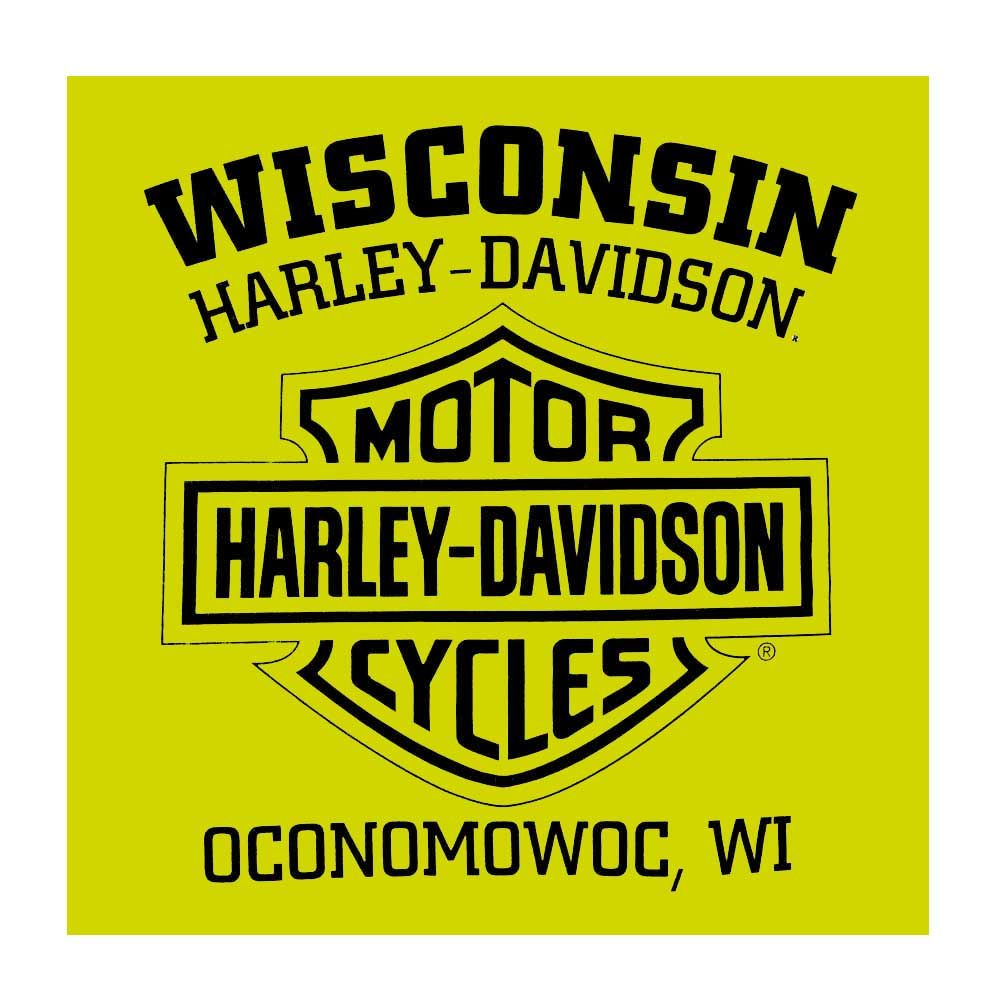 5XL Safety Green Harley-Davidson Men/'s Alliance Chest Pocket Long Sleeve Tee