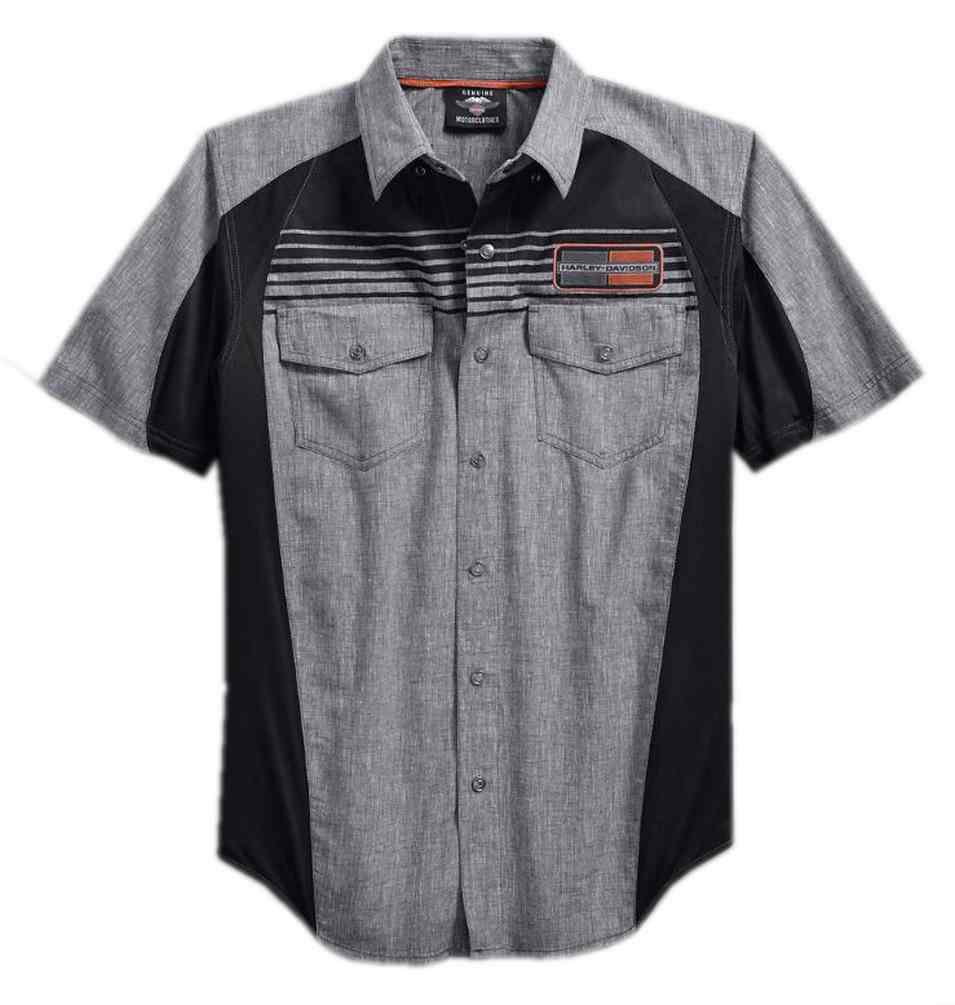 Harley-Davidson Men/'s Performance Vented Stripe Short Sleeve Shirt 96116-18VM