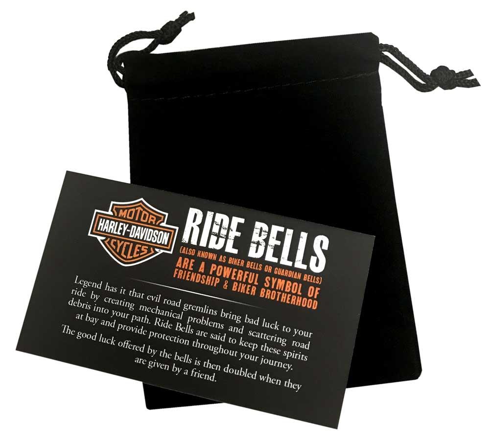 Harley-Davidson Sculpted B/&S Medallion Ride Bell Brass /& Steel Finish HRB095