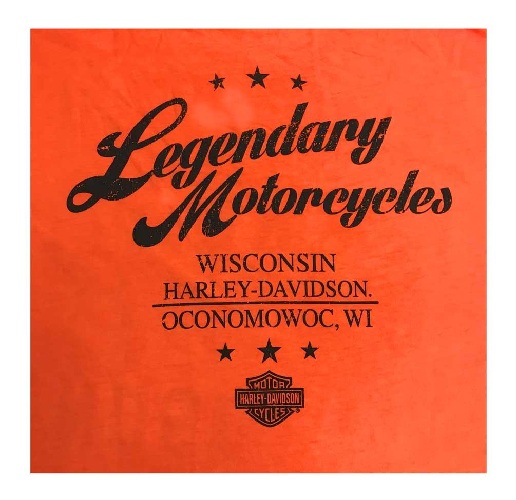 Harley-Davidson Men/'s Classic Stitch Premium Long Sleeve Shirt Orange Wash
