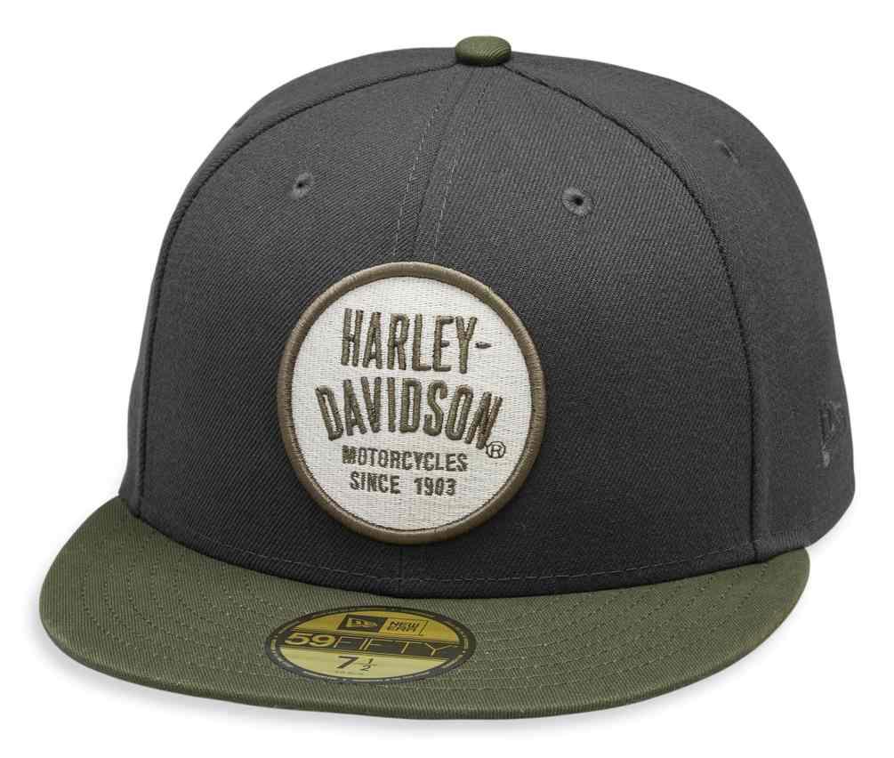 Gray 99457-19VM Harley-Davidson Men/'s Winged Harley 59FIFTY Baseball Cap