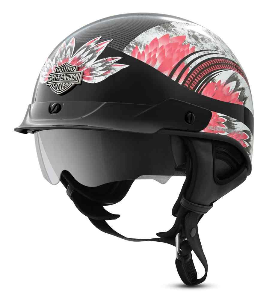 Harley Davidson Women S Terrace Dream J03 Half Helmet Black Pink 98286 19vx