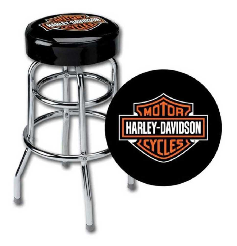 Incredible Harley Davidson Classic Bar Shield Logo Bar Stools Hdl 12116A Set Of 2 Stools Squirreltailoven Fun Painted Chair Ideas Images Squirreltailovenorg