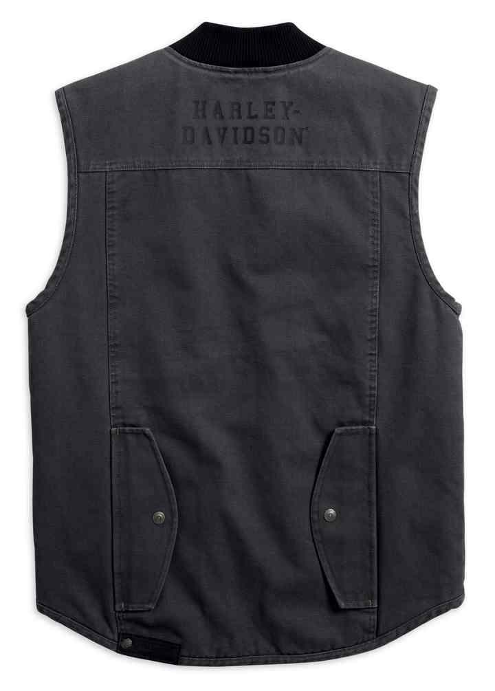 Harley-Davidson® Men's Quilted Slim Fit Workwear Vest, Asphalt Gray  98416-19VM - Wisconsin Harley-Davidson