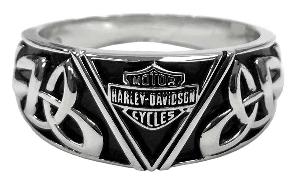 Sterling Silver HDR0438 Harley-Davidson Men/'s Classic Multiple B/&S Ring