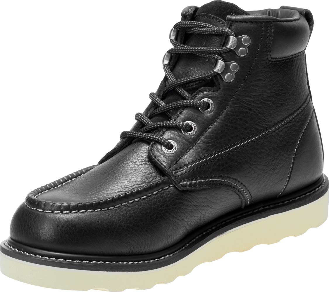 Harley-Davidson Bosworth Composite Toe D93573 Mens Black Motorcycle Boots Shoes
