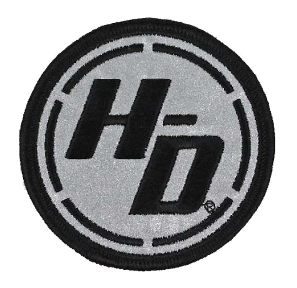 EM334801 Harley-Davidson Reflective Ignition Circle H-D Emblem Patch 3 x 3 in