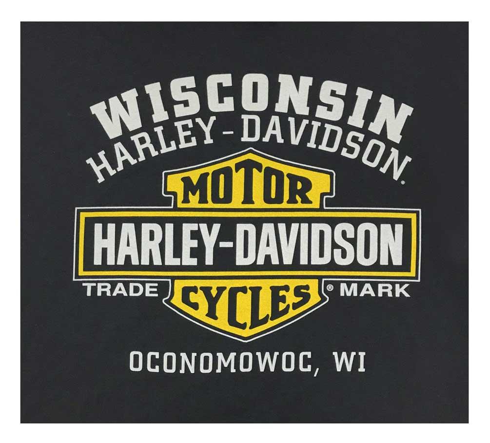 Black Harley-Davidson Men/'s Custom V Eagle Sleeveless Crew Neck Muscle Shirt