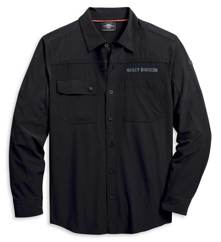 Harley Davidson Men/'s Performance Vented Tonal Colorblocked Shirt