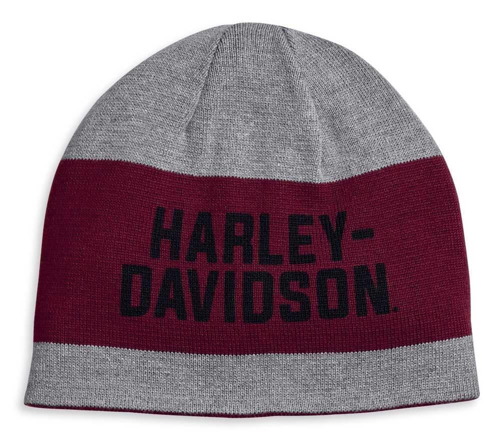 Harley-Davidson Herren  Wintermütze Reversible WIDE STRIPE      *97615-20VM*
