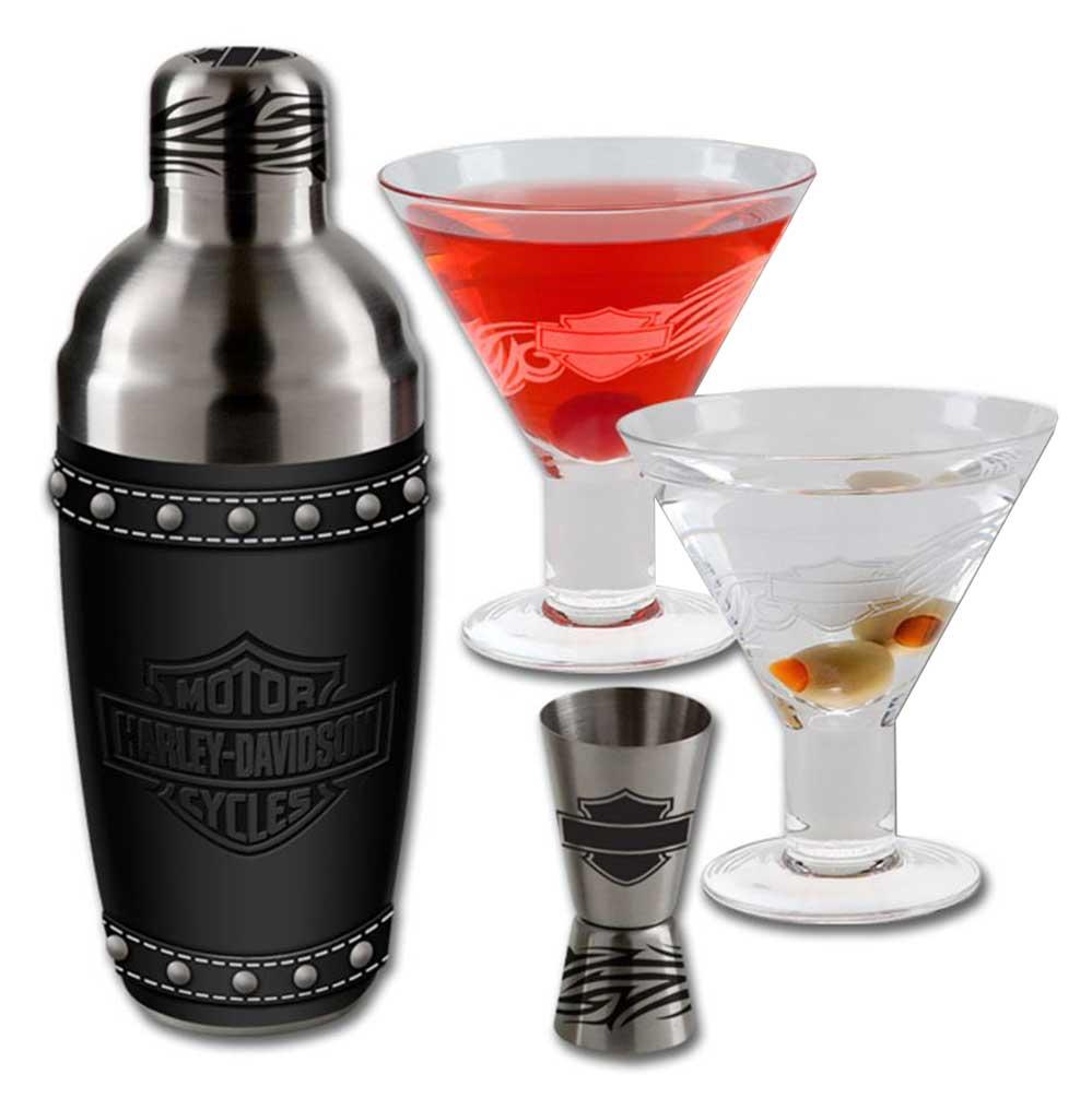 Harley Davidson Martini Glass Set