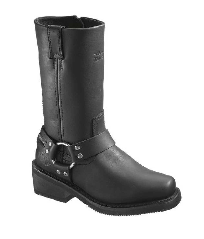 Harley Davidson® Women's Hustin Waterproof Black Leather Motorcycle Boots,D86222
