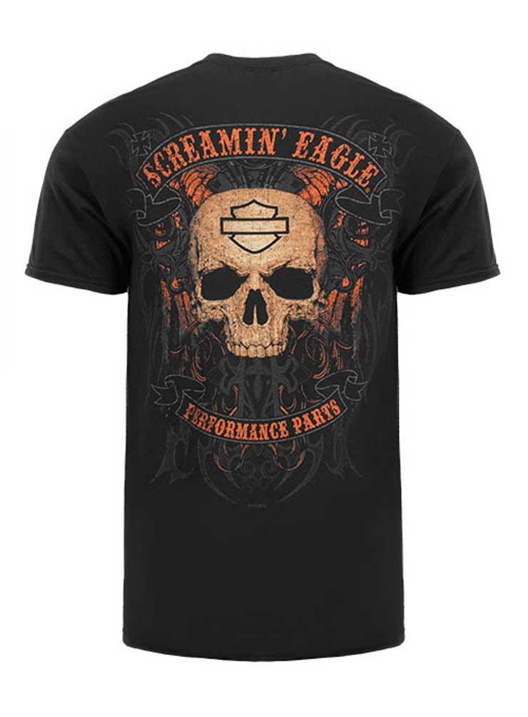 Harley Davidson Mens Skull Name Short Sleeve T-Shirt Black R002898
