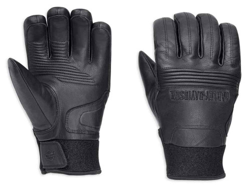 Harley-Davidson Official Mens Cyrus Insulated Waterproof Gloves Black